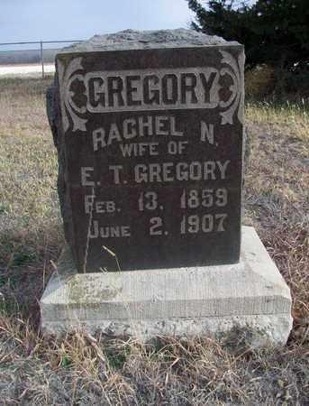 GREGORY, RACHEL N - Osborne County, Kansas | RACHEL N GREGORY - Kansas Gravestone Photos