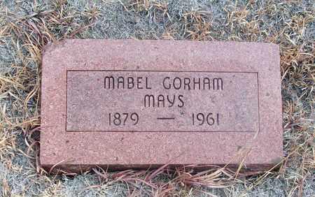 GORHAM MAYS, MABEL - Osborne County, Kansas | MABEL GORHAM MAYS - Kansas Gravestone Photos