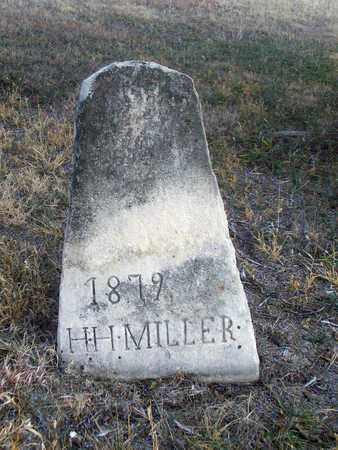 MILLER, H H - Osborne County, Kansas   H H MILLER - Kansas Gravestone Photos