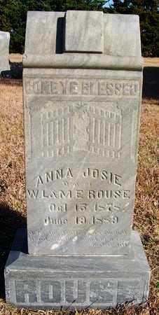 ROUSE, ANNA JOSIE - Osborne County, Kansas | ANNA JOSIE ROUSE - Kansas Gravestone Photos