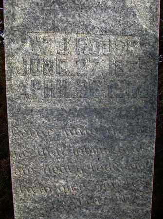 ROUSE, WILLIAM JAMISON - Osborne County, Kansas   WILLIAM JAMISON ROUSE - Kansas Gravestone Photos