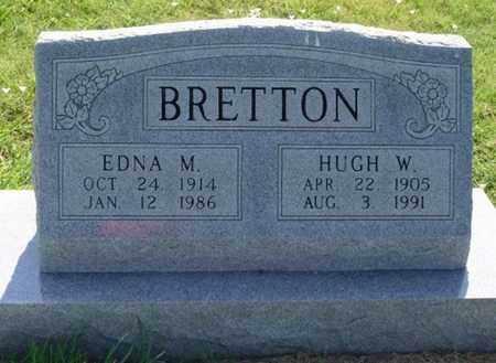 BRETTON, HUGH WILLIAM - Phillips County, Kansas | HUGH WILLIAM BRETTON - Kansas Gravestone Photos