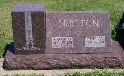 BRETTON, MAVOR ORLIN - Phillips County, Kansas   MAVOR ORLIN BRETTON - Kansas Gravestone Photos