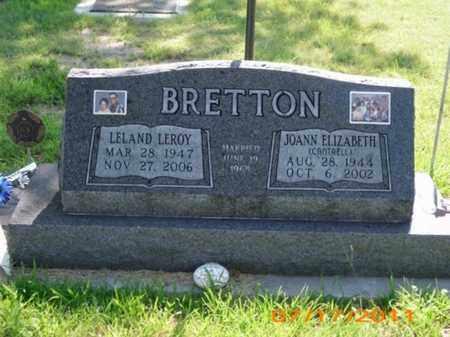 BRETTON, LELAND LEROY - Phillips County, Kansas   LELAND LEROY BRETTON - Kansas Gravestone Photos