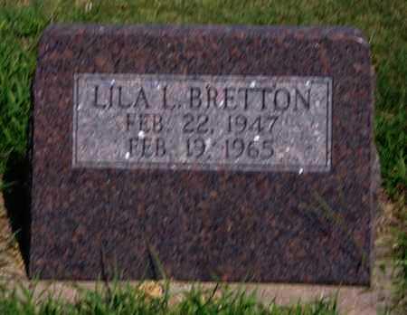 BRETTON, LILA LORRAINE - Phillips County, Kansas | LILA LORRAINE BRETTON - Kansas Gravestone Photos
