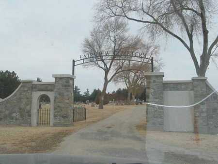 *ENTRANCE, FAIRVIEW CEMETERY - Phillips County, Kansas | FAIRVIEW CEMETERY *ENTRANCE - Kansas Gravestone Photos