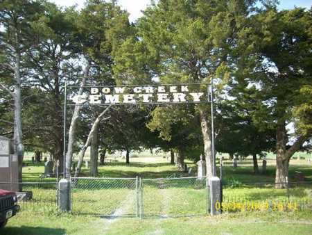 *ENTRY SIGN, BOW CREEK CEMETERY - Phillips County, Kansas   BOW CREEK CEMETERY *ENTRY SIGN - Kansas Gravestone Photos