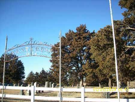 *SIGN AND ENTRANCE, WEST CEDAR CEMETERY - Phillips County, Kansas | WEST CEDAR CEMETERY *SIGN AND ENTRANCE - Kansas Gravestone Photos