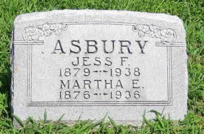 ASBURY, JESS F - Pottawatomie County, Kansas | JESS F ASBURY - Kansas Gravestone Photos