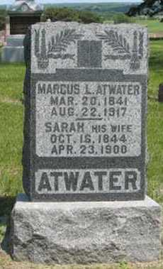 ATWATER, SARAH - Pottawatomie County, Kansas | SARAH ATWATER - Kansas Gravestone Photos