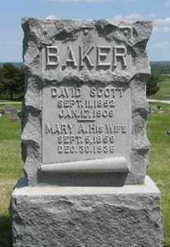 BAKER, DAVID SCOTT - Pottawatomie County, Kansas   DAVID SCOTT BAKER - Kansas Gravestone Photos