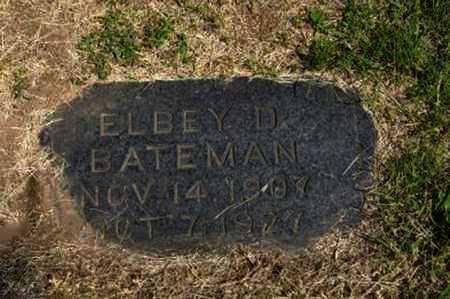 BATEMAN, ELBEY D - Pottawatomie County, Kansas   ELBEY D BATEMAN - Kansas Gravestone Photos