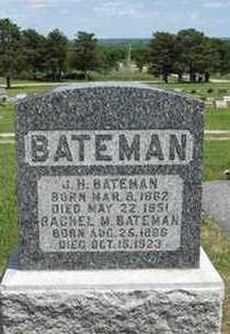 BATEMAN, RACHEL M - Pottawatomie County, Kansas | RACHEL M BATEMAN - Kansas Gravestone Photos