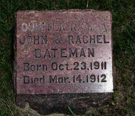 BATEMAN, QUINTEN R - Pottawatomie County, Kansas | QUINTEN R BATEMAN - Kansas Gravestone Photos
