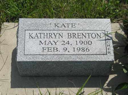 "BRENTON, KATHRYN ""KATE"" - Pottawatomie County, Kansas | KATHRYN ""KATE"" BRENTON - Kansas Gravestone Photos"