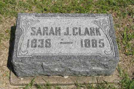 CLARK, SARAH J - Pottawatomie County, Kansas | SARAH J CLARK - Kansas Gravestone Photos