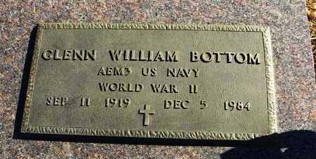 BOTTOM, GLENN WILLIAM  (VETERAN WWII) - Pottawatomie County, Kansas | GLENN WILLIAM  (VETERAN WWII) BOTTOM - Kansas Gravestone Photos