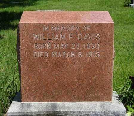 DAVIS, WILLIAM F - Pottawatomie County, Kansas | WILLIAM F DAVIS - Kansas Gravestone Photos