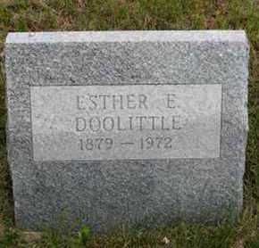 DOOLITTLE, ESTHER E - Pottawatomie County, Kansas   ESTHER E DOOLITTLE - Kansas Gravestone Photos