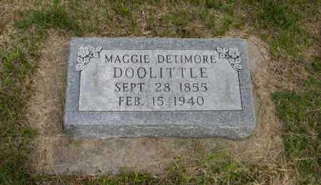 DOOLITTLE, MAGGIE - Pottawatomie County, Kansas | MAGGIE DOOLITTLE - Kansas Gravestone Photos