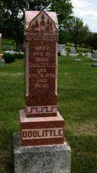 DOOLITTLE, MARY - Pottawatomie County, Kansas | MARY DOOLITTLE - Kansas Gravestone Photos