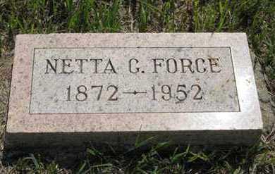 FORCE, NETTA G - Pottawatomie County, Kansas | NETTA G FORCE - Kansas Gravestone Photos