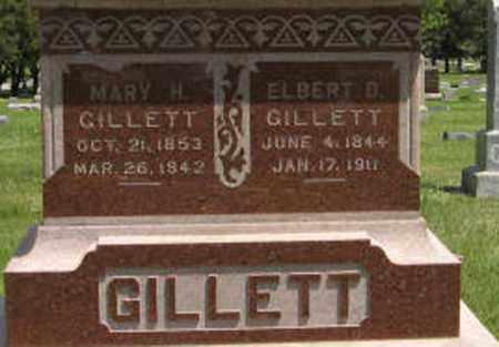 GILLETT, MARY HANNAH (CLOSE UP) - Pottawatomie County, Kansas | MARY HANNAH (CLOSE UP) GILLETT - Kansas Gravestone Photos