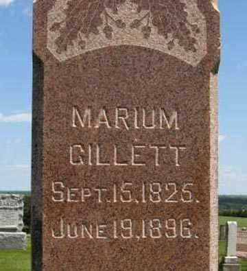 GILLETT, MARIUM (CLOSE UP) - Pottawatomie County, Kansas | MARIUM (CLOSE UP) GILLETT - Kansas Gravestone Photos