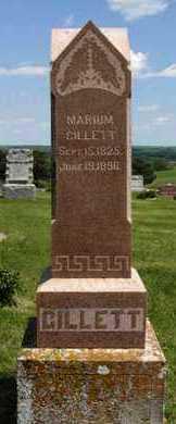 GROVER GILLETT, MARIUM - Pottawatomie County, Kansas   MARIUM GROVER GILLETT - Kansas Gravestone Photos