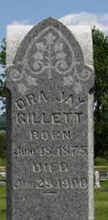 GILLETT, ORA JAY (CLOSE UP) - Pottawatomie County, Kansas | ORA JAY (CLOSE UP) GILLETT - Kansas Gravestone Photos