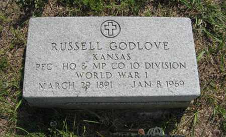 GODLOVE, RUSSELL  (VETERAN WWI) - Pottawatomie County, Kansas   RUSSELL  (VETERAN WWI) GODLOVE - Kansas Gravestone Photos