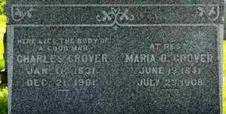 GROVER, MARIA O (CLOSE UP) - Pottawatomie County, Kansas   MARIA O (CLOSE UP) GROVER - Kansas Gravestone Photos
