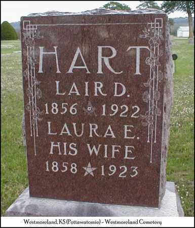 HART, LAURA ELLEN - Pottawatomie County, Kansas | LAURA ELLEN HART - Kansas Gravestone Photos