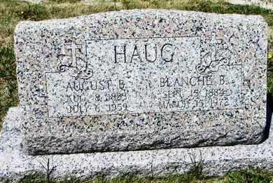 HAUG, BLANCHE - Pottawatomie County, Kansas | BLANCHE HAUG - Kansas Gravestone Photos
