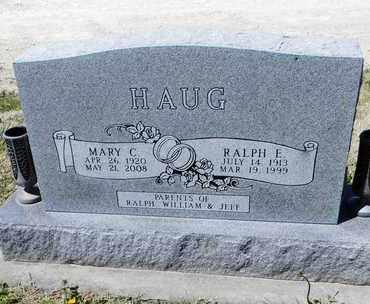 HAUG, RALPH E, SR - Pottawatomie County, Kansas | RALPH E, SR HAUG - Kansas Gravestone Photos