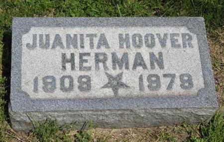 HERMAN, JUANITA - Pottawatomie County, Kansas | JUANITA HERMAN - Kansas Gravestone Photos