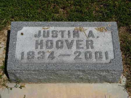 HOOVER, JUSTIN A - Pottawatomie County, Kansas | JUSTIN A HOOVER - Kansas Gravestone Photos