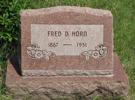 HORN, FRED D - Pottawatomie County, Kansas | FRED D HORN - Kansas Gravestone Photos