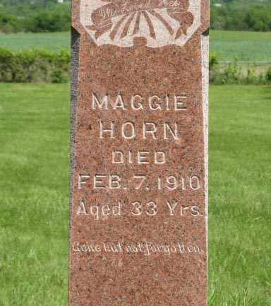 HORN, MAGGIE (CLOSE UP) - Pottawatomie County, Kansas | MAGGIE (CLOSE UP) HORN - Kansas Gravestone Photos