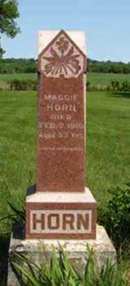 HORN, MAGGIE - Pottawatomie County, Kansas   MAGGIE HORN - Kansas Gravestone Photos
