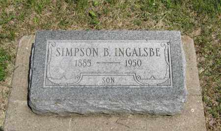 INGALSBE, SIMPSON B - Pottawatomie County, Kansas | SIMPSON B INGALSBE - Kansas Gravestone Photos