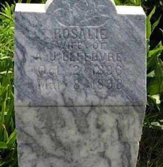 LEFEBVRE, ROSALIE (CLOSE UP) - Pottawatomie County, Kansas | ROSALIE (CLOSE UP) LEFEBVRE - Kansas Gravestone Photos