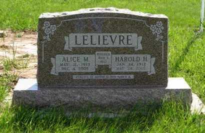 LELIEVRE, ALICE M - Pottawatomie County, Kansas   ALICE M LELIEVRE - Kansas Gravestone Photos