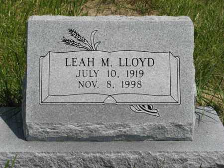 LLOYD, LEAH M - Pottawatomie County, Kansas | LEAH M LLOYD - Kansas Gravestone Photos