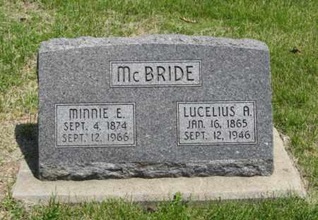 MCBRIDE, LUCELIUS A - Pottawatomie County, Kansas   LUCELIUS A MCBRIDE - Kansas Gravestone Photos