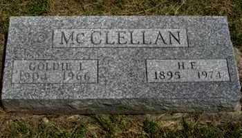 MCCLELLAN, GOLDIE L - Pottawatomie County, Kansas   GOLDIE L MCCLELLAN - Kansas Gravestone Photos