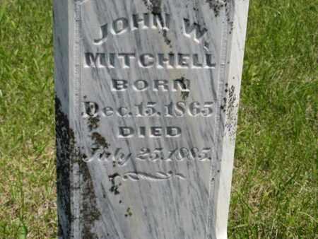 MITCHELL, JOHN W - Pottawatomie County, Kansas | JOHN W MITCHELL - Kansas Gravestone Photos