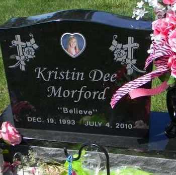 MORFORD, KRISTIN DEE - Pottawatomie County, Kansas | KRISTIN DEE MORFORD - Kansas Gravestone Photos
