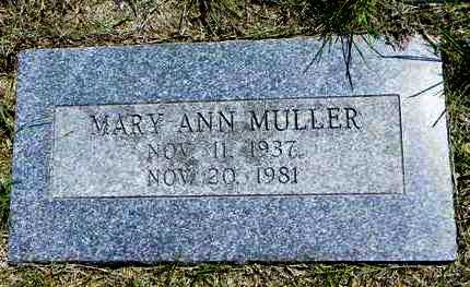 CORDTS MULLER, MARY ANN - Pottawatomie County, Kansas | MARY ANN CORDTS MULLER - Kansas Gravestone Photos