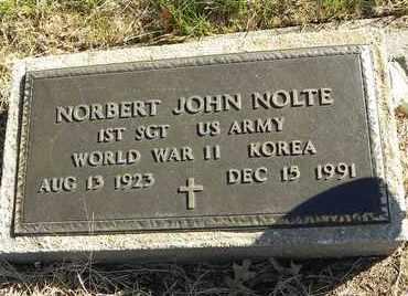 NOLTE, NORBERT JOHN   (VETERAN 2 WARS) - Pottawatomie County, Kansas   NORBERT JOHN   (VETERAN 2 WARS) NOLTE - Kansas Gravestone Photos